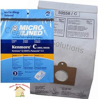 Kenmore Vacuum Bags Style C & Q 3 Pack Microlined