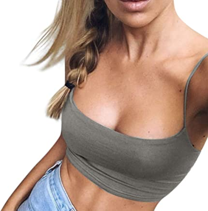Garish❤️❤️ Women's Sexy Bra TPS,Charming Off The Shoulder Vest,Casual Caims Tank Tops, Slim Yoga Sport Black T Shirt