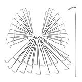 Relaxdays Zeltnagel 20er Set, Heringe Camping, Bodenanker für Zeltbefestigung, Widerhaken, Erdanker 22cm, Stahl, silber