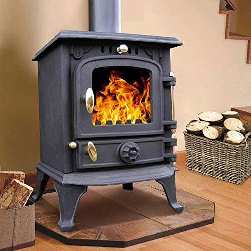 Lincsfire Harmston JA013S 5.5KW Multifuel Stove Clean Burn Wood Burner Log Burning Fire Woodburning...