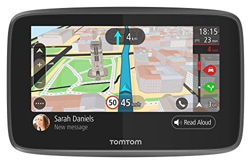 TomTom GO 5200, GPS para coche, 5 pulgadas, llamadas manos libres, Siri y Google Now, actualizaciones viaWi-Fi, traffic para toda la vida mediante tarjeta SIM, mapas del mundo, mensajes de smartphone