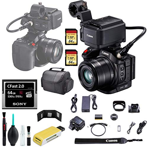 Affordable Canon XC15 4K Pro Camcorder + 64GB CFast 2.0 G Series Memory Card + Carrying Case + USB C...