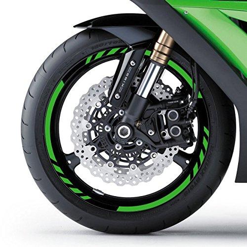 malango® Felgenrandaufkleber Felgenaufkleber Felgenringe für Motorrad Aufkleber Felge Rad Motor Bike 16 Zoll shellgelb shellgelb 16 Zoll