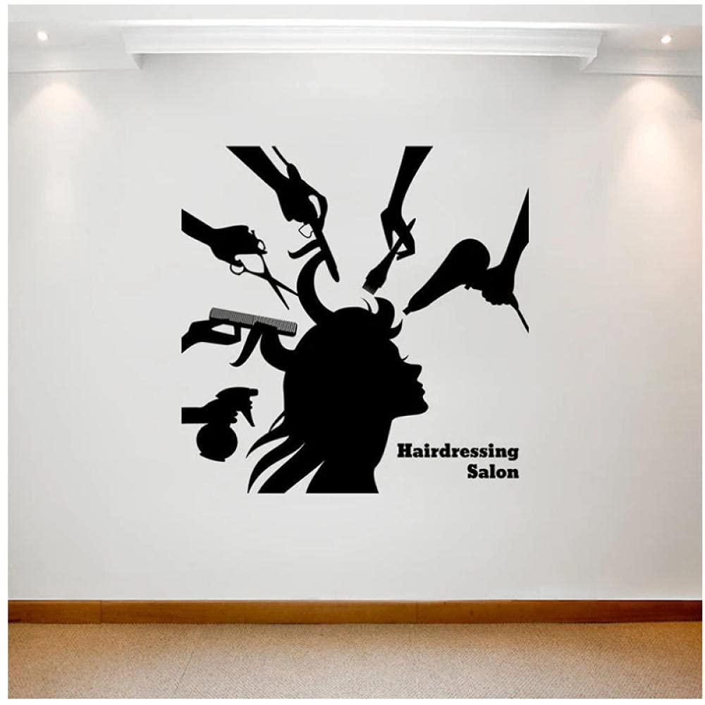 aksldf Hairdressing Beauty Salon San Diego Mall Wall S Barber Sticker Max 44% OFF Hair Girl