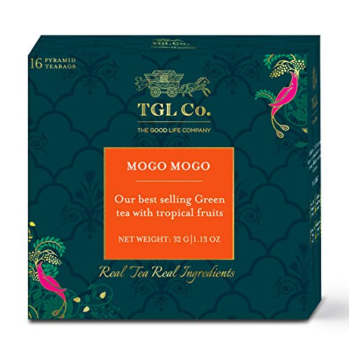TGL Co. Mogo Mogo Green Tea, 16 Tea Bags | Fruit Tea