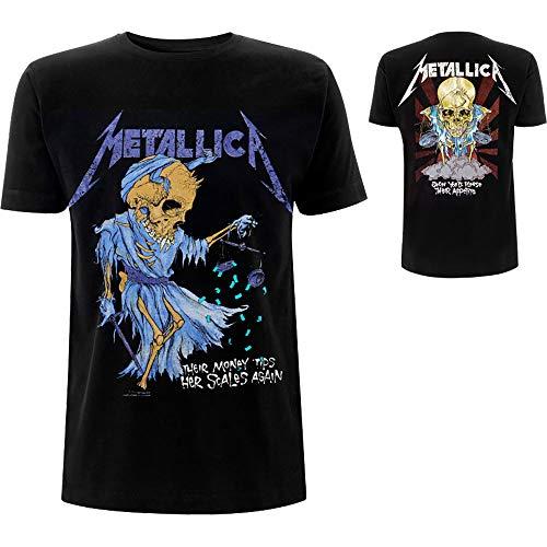 Metallica Doris_Men_bl_TS: M Camiseta, Negro (Black Black), Medium para Hombre