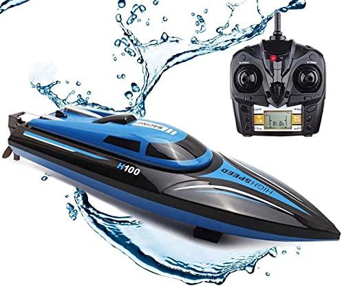 Adulti per esterni Barche a distanza ad alta velocità / 2,4 Ghz 14 km / h Mini Giocattoli per barche a distanza Indoor / Bambini Ragazzi Ragazze