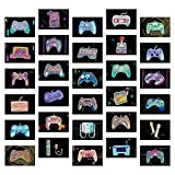 30PCS Retro Video Game Art Prints (6x4) | Mini Gamer Posters for Boys Room and Man Cave Decor | Game Room Decor by Vibes and Vistas