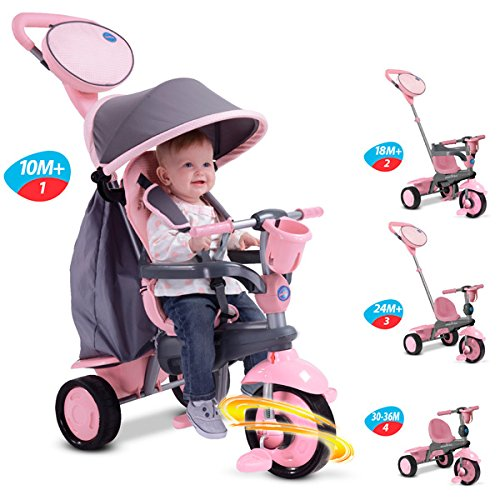 Smart Trike - Swing Triciclo evolutivo, Color Rosa (2036500200)