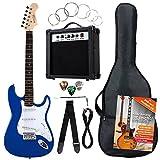Rocktile ST Pack SET chitarra elettrica blu con amplificatore, borsa, accordatore, cavo, tracolla
