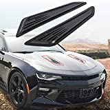 ECOTRIC SS Style Black Bonnet Hood Vent Scoop Covers 2016-2020 Chevy Camaro 1LT LT RS