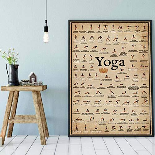 Póster de yoga, yoga asanas, yoga, yoga, yoga, yoga, yoga, hogar, regalo, póster decorativo para pared, 20 x 25 cm