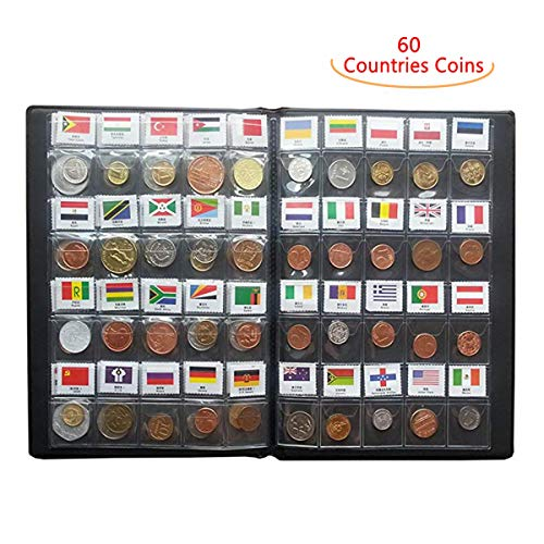 Coin Collection Set Fine Coins Nations Collection Coins Starter Kit 100% Original Genuine with Leather Collection Album…