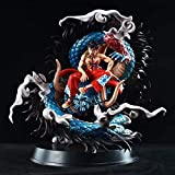 CUUGF 30cm Exquisite Limited Edition One Piece Luffy Sitting On The Dragon Land of Wano Version/Anime Character Model/PVC Material Static Figure Statue/Anime Fans and Otaku Favorite