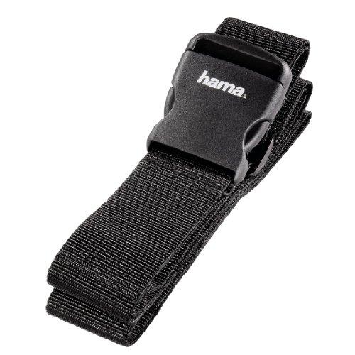 Hama Gepäckgurt (Band zum sicheren Verschließen der Koffers auf Reisen, 5x200 cm) schwarz