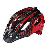 El casco de luz protege Montaña de la bicicleta de seguridad casco de la bici Integrado de moldeo Casco universal Riding Equipment - Efectivamente reducir la resistencia del aire y reducir Swe (Color: