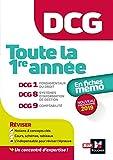 DCG - Toute la 1ère année du DCG 1, 8, 9 en fiches - Révision