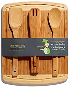 Bamboo Cutting Board and Utensils