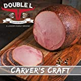 Boneless Holiday Ham by Double L Ranch Meats | Hickory Smoked | Fully Cooked & Ready to serve 8-9...