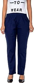 Frevo Navy Free Size Cotton Lycra Girls and Women Trouser 51
