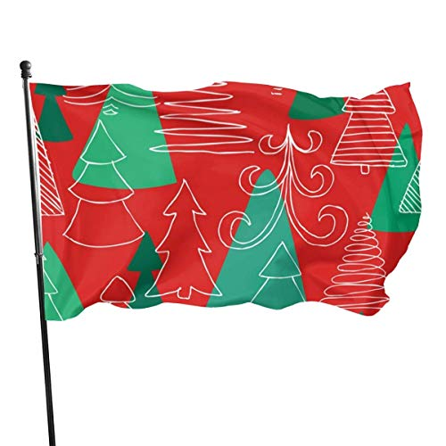 ALLdelete# Flags Outdoor-Skizze Weihnachtsbaum Garten Flagge, Hof Flagge - 3 X 5 ft