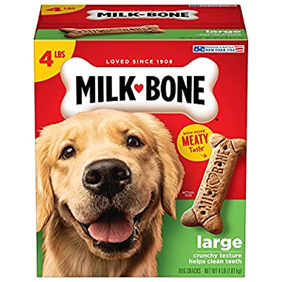 Milk-Bone Original Dog Treats Biscuits for Large Dogs, 4 Pounds (Pack of 2)