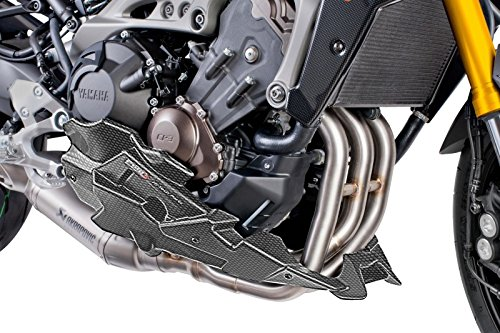 Bugspoiler Puig Yamaha MT-09 2014-2015 , MT-09 TRACER 2015 carbonlook Motorspoiler (für Akrapovic Anlage)