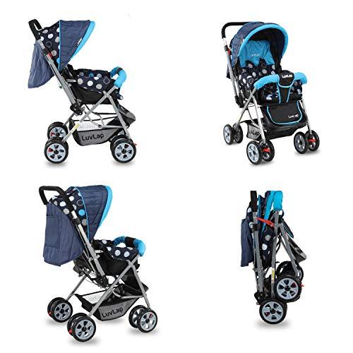 LuvLap Sunshine Stroller/Pram, Easy Fold, for Newborn Baby/Kids, 0-3 Years (Sky Blue) 4