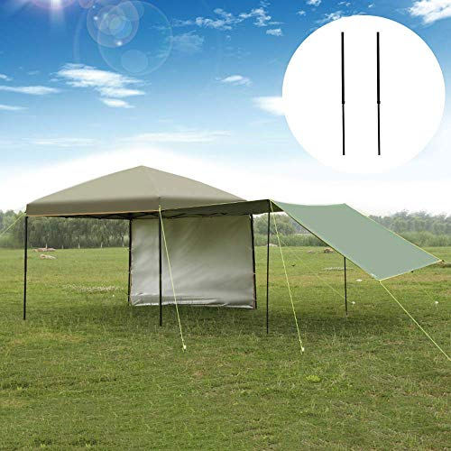 outdoor Gazebo 10ft*10ft Pop up Canopy Tent Instant Shelter,With 1 wall / 1 epitaxial curtain/ground nail/wind rope/storage bag