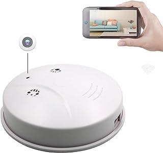 Sunsome Upgrade WiFi Hidden Spy Camera Smoke Detector,HD 1080P Nanny Cam Motion Detection Wireless Mini Video Recorder for...