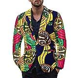 CLOOM Giacche Uomo, Blazer Floreale per Uomo, Abito a Maniche Lunghe con Stampa Hawaiana i...