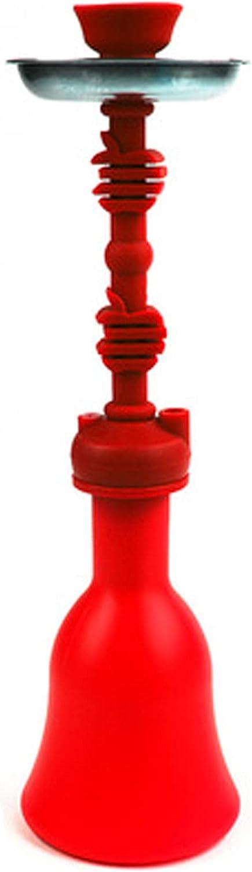 Shisha Hookah Khalil Mamoon Silicone Hose Hookah Complete Kit, Pipe Water Pipe Fuman Set Portable Hookah Set Moderno Silica Gel para el Uso del hogar y el Uso de la Red