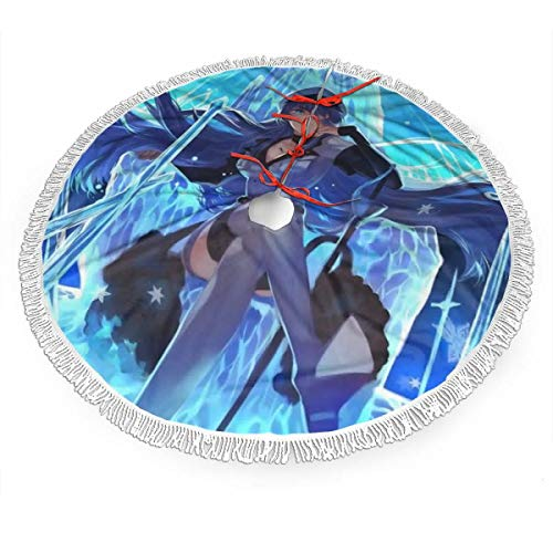 Jywdx Akame ga Kill Christmas Tree Skirt - High-End Soft Classic Christmas Tree Decoration Merry Christmas Party New Year Party Holiday Indoor Outdoor Ornament