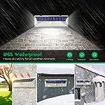 VOSONX Solar Lights Outdoor - 126 LEDs Solar Powered Security Lights, Wireless Light Sensor & Motion Sensor Light, IP65 Waterproof Outdoor Wall Lights with 270° Wide Angle for Front Door, Garage, Yard IP65 Waterproof Weather Temperature Resistant