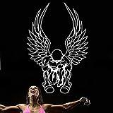 Hantel Fitness Aufkleber Fitness Poster Vinyl Muskel