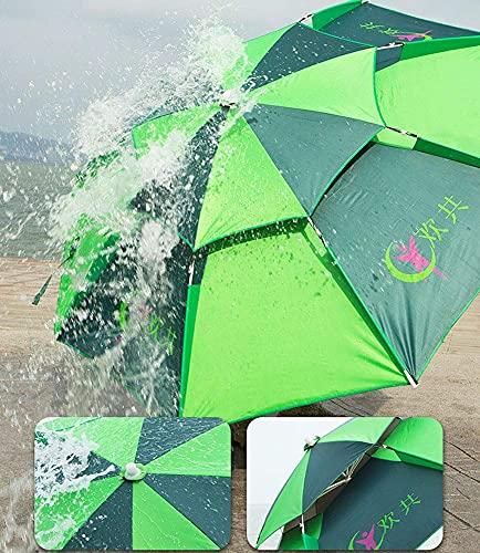 QULONG 7.2ft/2.2m umbrella Umbrella With Tilting Function Sunshade, Outdoor Fishing Patio Beach Parasol, Fibreglass Ribs, Tilt Mechanism, With Sand Anchor, Carry Bag