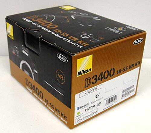 Nikonデジタル一眼レフカメラD3400AF-P18-55VRレンズキットブラックD3400LKBK