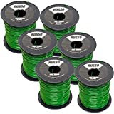 6 Pack 095 Round 5lb Commercial String Trimmer Line Compatible with Echo Stihl RedMax Trimmers