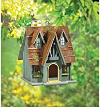 ymorking 29312 Wholesale Thatch Roof Chimney Birdhouse Garden Decor Decoration Outdoor Front Yard Frontyard Home House Gra...