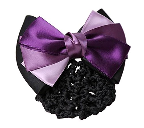 Elegant Ladies Snood Net Barrette Hairnets Housse de cheveux, Purple #01