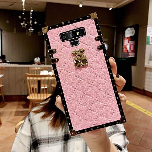 Galaxy Note 9 Grid Plaid Case,SelliPhone Luxury Design Cute Slim Diamond Lattice Soft TPU Trunk Case,Unique Women Girls Lady Phone Skin for Samsung Galaxy Note 9 (2018),Pink