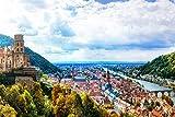 Heidelberg Altstadt Design XXL Wandbild Kunstdruck Foto