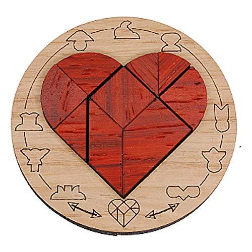 Mini Puzzle Siebenstein Spiele Bois Artisanal Wooden Brain Teaser Puzzles, Coeur Brisé