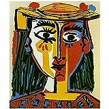 zkpzk Carteles E Impresiones Pablo Picasso -Cubismo Cuadro Abstracto Arte De La Pared Pintura En Lienzo Sala De Estar Dormitorio Decoración para El Hogar Carteles -50X75Cmx1 Sin Marco