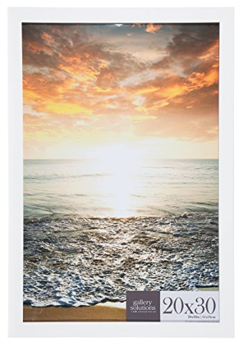 Mejor Frametory, Modern Metallic Aluminum Matte Photo Frame with Ivory Mat for Picture & Real Glass, Gallery Wall Display - Sawtooth Hanger, Swivel Tabs (Black, 16x20 Frame for 11x14 Picture) crítica 2020