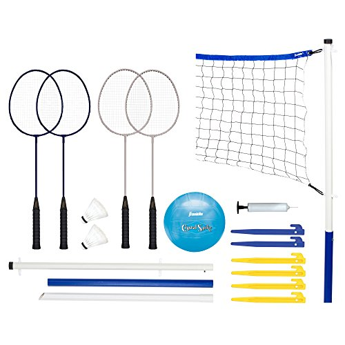 Franklin Sports - Juego de bádminton y Voleibol recreativo