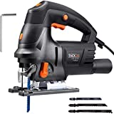 Tacklife Jigsaw, Upgraded 6.7 Amps 3000 SPM Jig Saw with LED, 3 Blades, Variable Speed, Aluminum Base, Ideal for Cutting Wood, Plastic, Aluminium - PJS04A