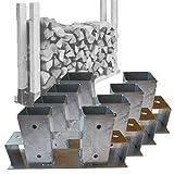 4 Stück Stapelhilfe für Kaminholz Brennholz Holzstapelhilfe verzinkt