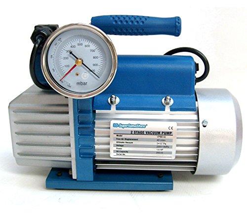 Vakuumpumpe 2 STUFIG 42 L/MIN Unterdruckpumpe mit elektrischem Ventil