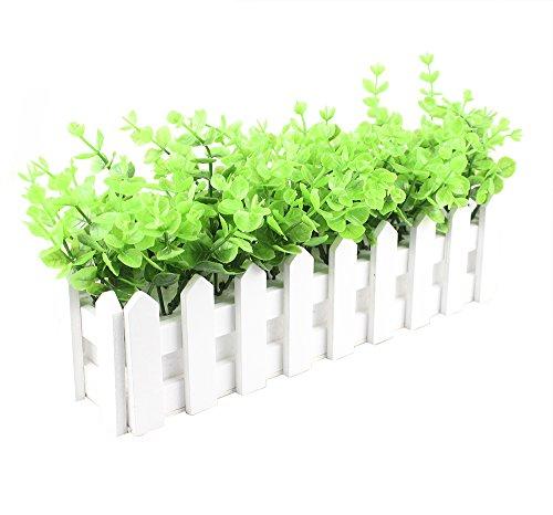 Arbeflo 鉢植え 観葉植物 インテリア グリーン 飾り デコレーション 枯れない 手作り 本物そっくり 花器付き (幅:30cm)